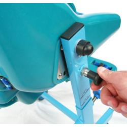 Height-adjustable seat