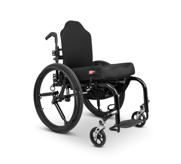 SoftWheel on a wheelchair